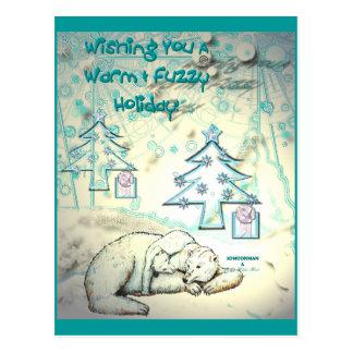 Cartão do Natal do urso polar