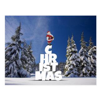 Cartão do Natal e do Papai Noel