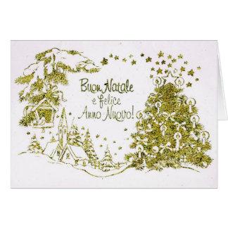 Cartão do Natal italiano e do ano novo