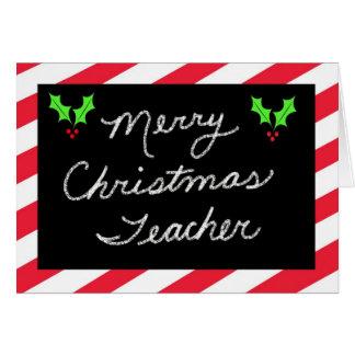 Cartão do Natal para o professor -- Quadro-negro