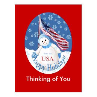Cartão do Natal para tropas