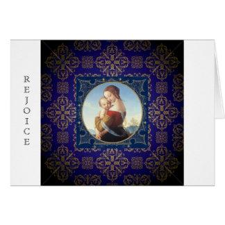 Cartão do Natal religioso