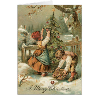 Cartão do natal vintage - cartão muito doce