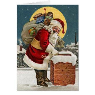 Cartão do natal vintage de Papai Noel