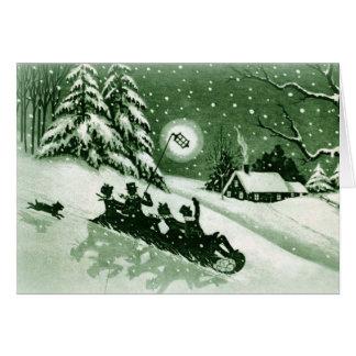 Cartão do natal vintage do divertimento