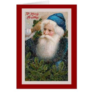 """Cartão do natal vintage do """"Feliz Natal"""""""