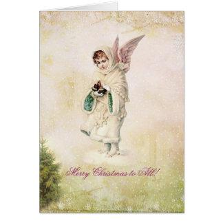 Cartão do natal vintage do Victorian