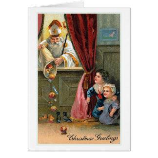 """Cartão Cartão do natal vintage dos """"cartões de natal"""""""