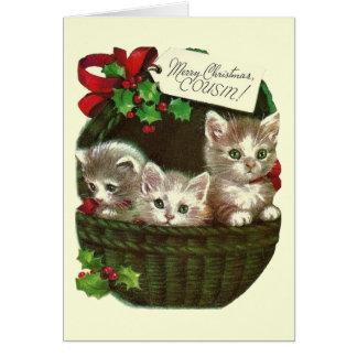 Cartão do natal vintage para o primo