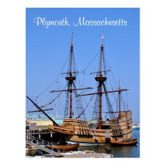 Cartão do navio de Plymouth Massachusetts