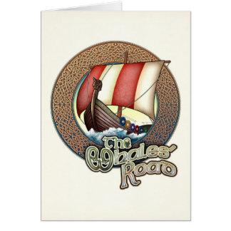 Cartão do navio de Viking da estrada das baleias