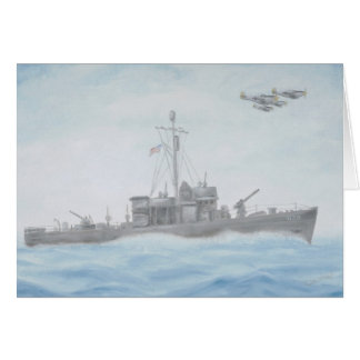 Cartão do navio de WWll