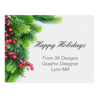 Cartão do negócio do feriado