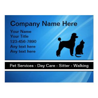 Cartão do negócio dos cuidados dos animais de