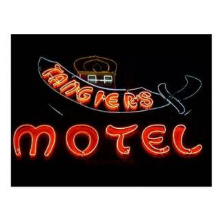 Cartão do néon de Chicago do vintage do motel de T Cartão Postal