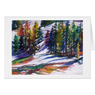 """Cartão Do """"neve Mt Lassen"""" na aguarela perto"""