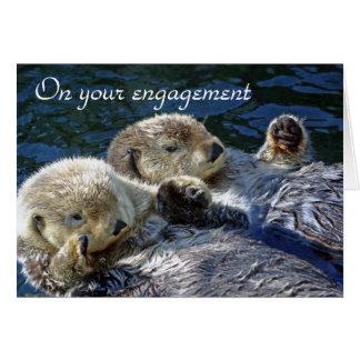 Cartão do noivado das lontras