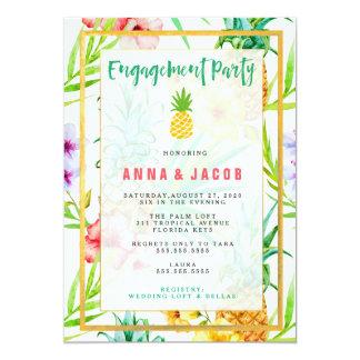 Cartão do noivado do abacaxi de 311 aguarelas