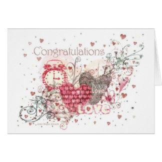 Cartão do noivado, do casamento ou do aniversário