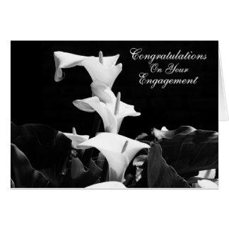 Cartão do noivado do lírio branco