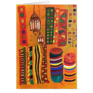 """Cartão Do """"notecard de Souk marroquino"""""""