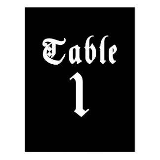 Cartão do número da mesa da caligrafia