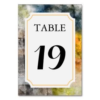 Cartão Cartão do número da mesa do casamento do vinhedo