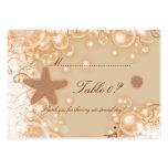 Cartão do número da mesa do ~ do tema do casamento cartoes de visitas