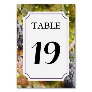 Cartão Cartão do número da mesa do vinhedo ou da adega