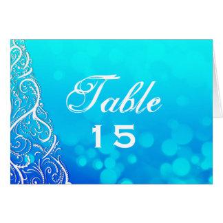 Cartão do número da mesa dos Flourishes do inverno