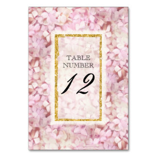 Cartão do número da mesa que Wedding o falso
