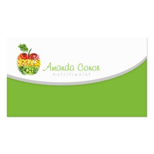 Cartão do nutricionista de Minimalistic/treinador  Cartões De Visitas