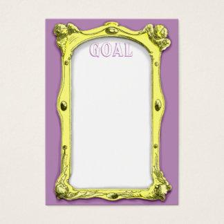 Cartão do objetivo do quadro