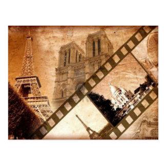 Cartão do olhar do vintage de Paris