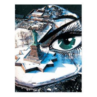 Cartão do olho do Ellis Island