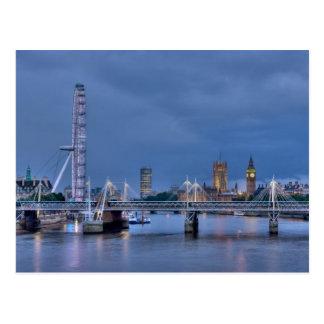Cartão do olho e do Big Ben de Londres