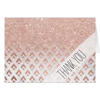 Cartão Do ombre cor-de-rosa do brilho do ouro do falso