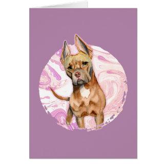 """Cartão Do """"orelhas coelho"""" pintura da aguarela do cão de"""
