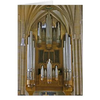 Cartão do órgão da catedral de Erfurt