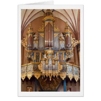 Cartão do órgão da catedral de Frombork