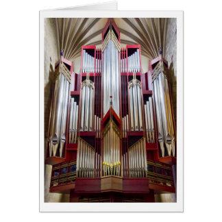 Cartão do órgão da catedral de St Giles (vertical)