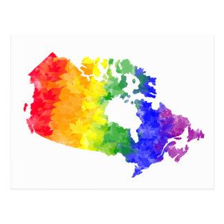 Cartão do orgulho do arco-íris da folha de bordo
