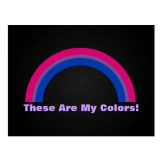 Cartão do orgulho do arco-íris do Bisexuality