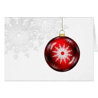 Cartão do ornamento do feriado