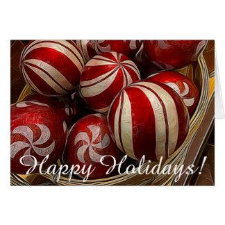 Cartão do ornamento do feriado do Natal
