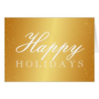 Cartão do ouro boas festas