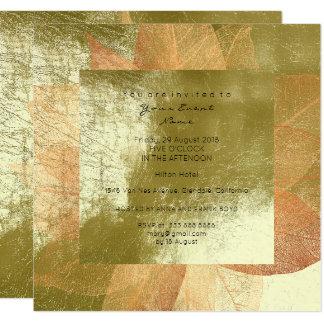 Cartão Do ouro metálico verde da folha da hortelã