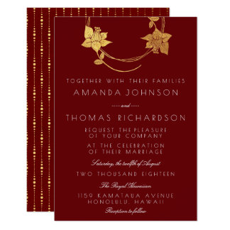 Cartão Do ouro vertical marrom da grinalda do ouro de