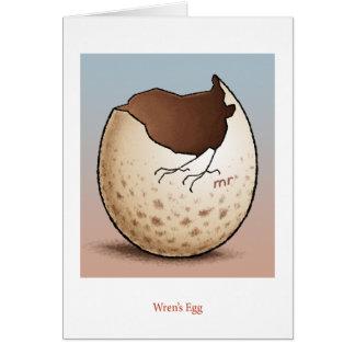 Cartão do ovo da carriça
