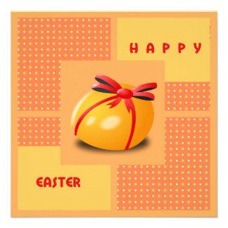Cartão do ovo da páscoa convite personalizados